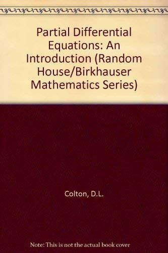 9780075539674: Partial Differential Equations: An Introduction (Random House/Birkhauser Mathematics Series)