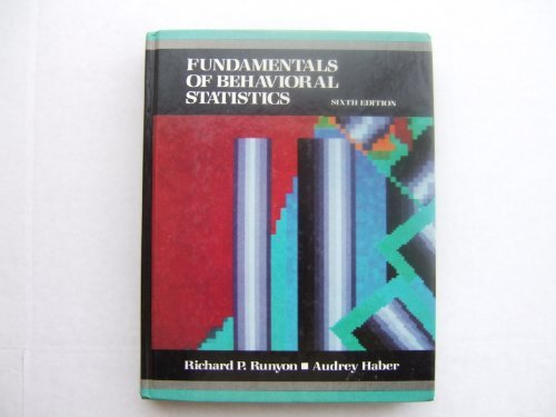 9780075540212: Fundamentals of Behavioral Statistics