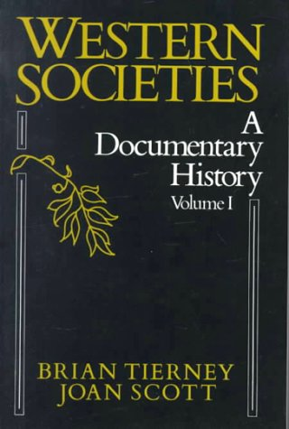9780075542551: Western Societies, a Documentary History: 1