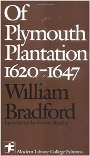 9780075542810: Of Plymouth Plantation 1620 - 1647