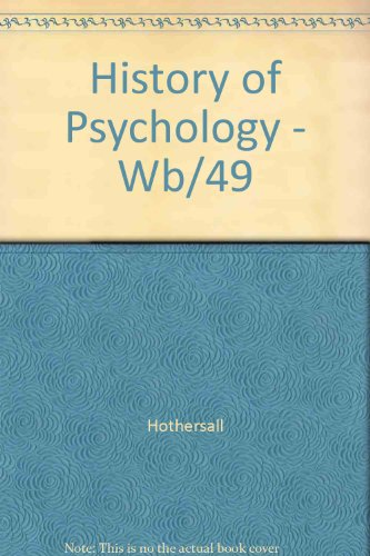 9780075542971: History of Psychology - Wb/49