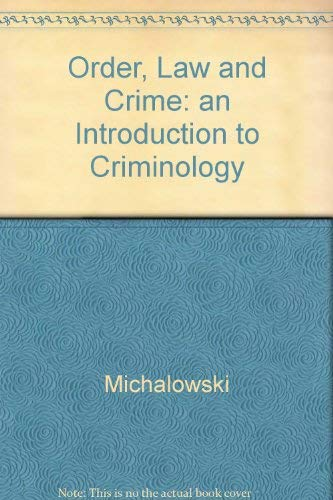 an introduction to criminology David honeywell's public lecture from 19 may (slides available from  ).