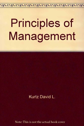 9780075545750: Principles of Management