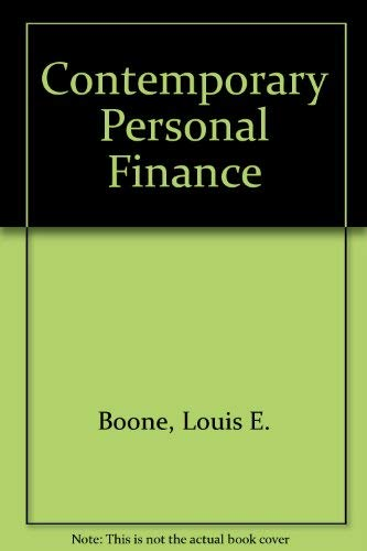 9780075547204: Contemporary Personal Finance