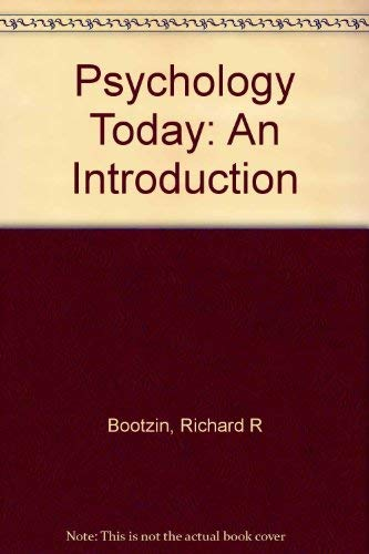 9780075547471: PSYCHOLOGY TODAY: An Introduction