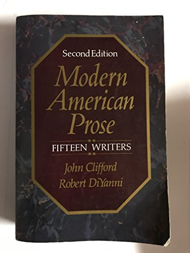9780075547891: Modern American Prose: Fifteen Writers