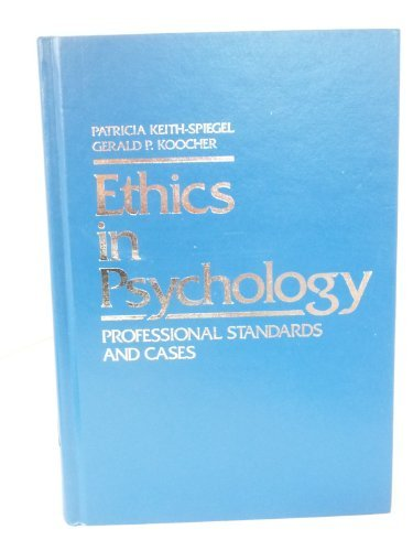 9780075548799: Ethics in Psychology: Professional Standards and Cases