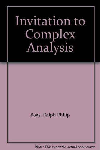 9780075548829: Invitation to Complex Analysis