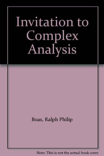 9780075548829: Invitation to Complex Analysis