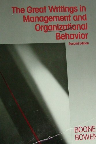 9780075550303: Great Writings In Management and Organizational Behavior