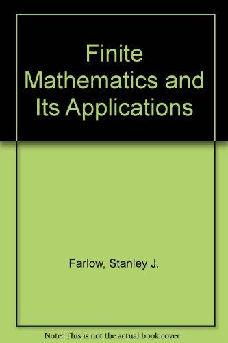 9780075552710: Finite Mathematics and Its Applications (Random House/Birkhhauser Mathematics Series)