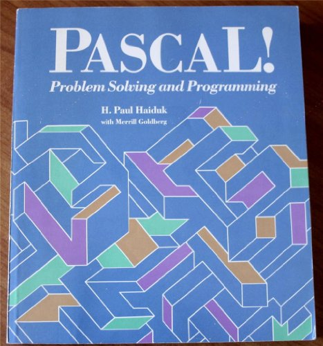 9780075553861: Pascal: Problem Solving and Programming