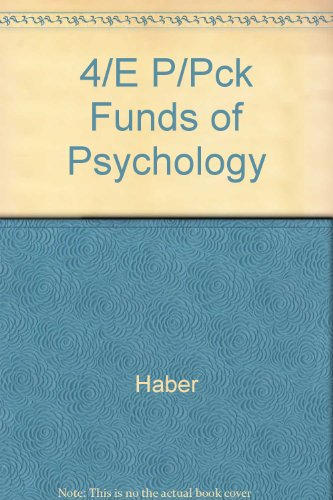 9780075560692: Fundamentals of Psychology