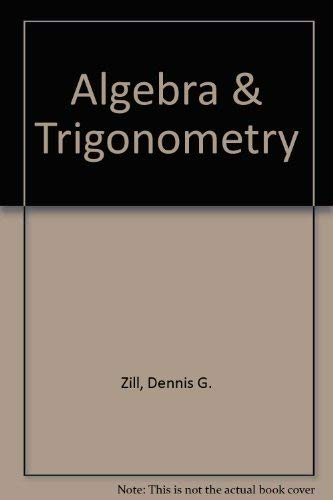 9780075570066: Algebra & Trigonometry