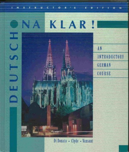 9780075570295: Deutsch Na Klar! : An Introductory Course