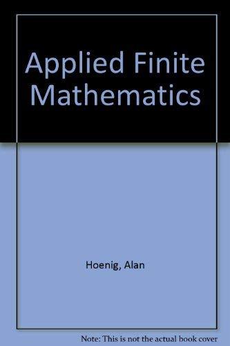 9780075570936: Applied Finite Mathematics