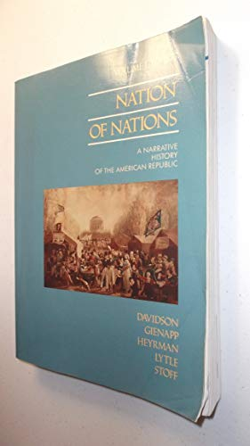9780075571988: Nation of Nations: v. 1: Narrative History of the American Republic