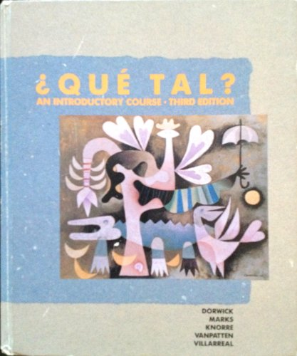 9780075574194: Que Tal?: An Introductory Course