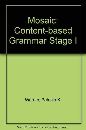 9780075575504: Mosaic I: A Content-Based Grammar