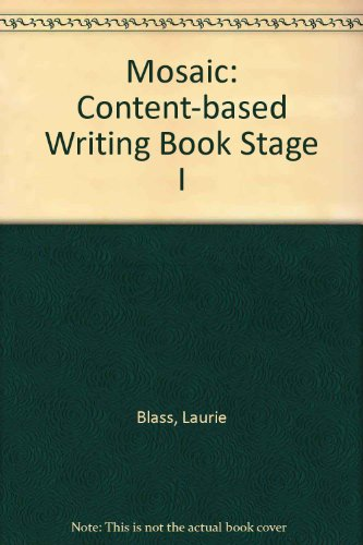 9780075575542: Mosaic: Content-based Writing Book Stage I