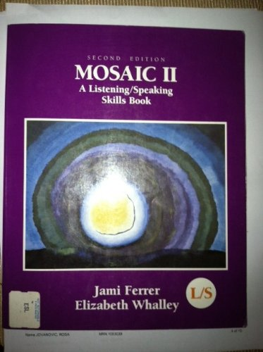 9780075575702: Mosaic: Listening/Speaking Skills Book Stage II