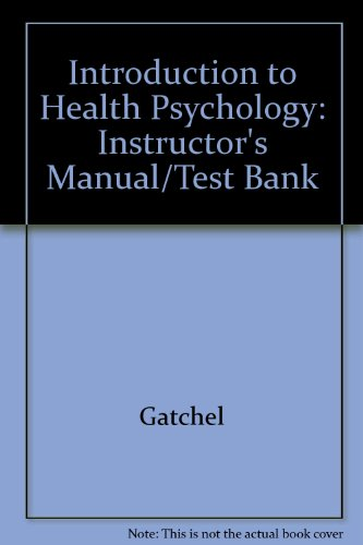 9780075577034: Introduction to Health Psychology: Instructor's Manual/Test Bank