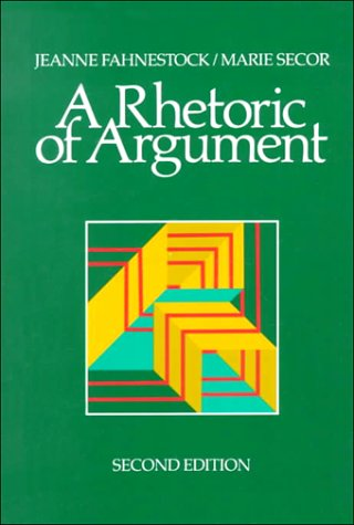 9780075577348: A Rhetoric of Argument