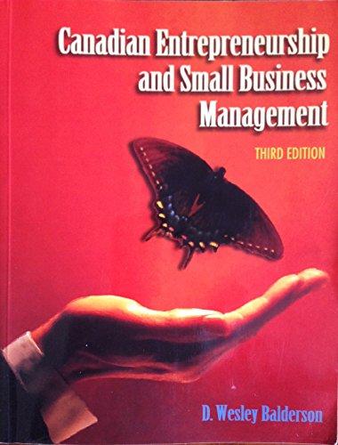 9780075602514: Canadian Entrepreneurship & Small Business Management 3/e