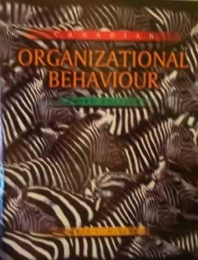 9780075603160: CANADIAN ORGANIZATIONAL BEHAVIOUR - 3rd Edition
