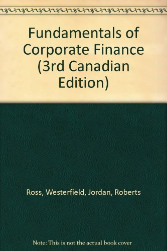 9780075604648: Fundamentals of Corporate Finance (3rd Canadian Edition)