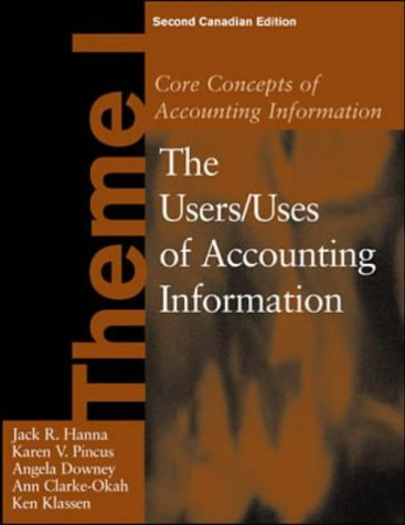 9780075609629: Core Concepts of Accounting Information, Theme 1
