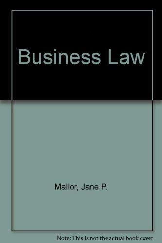 Business Law: Jane P. Mallor