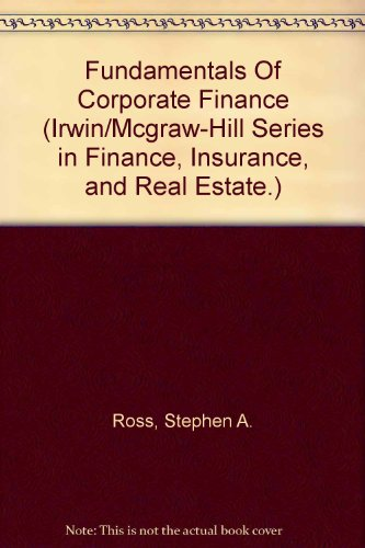 9780075612698: Fundamentals Of Corporate Finance (Irwin/Mcgraw-Hill Series in Finance, Insurance, and Real Estate.)