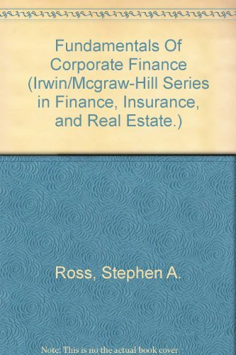 9780075612735: Fundamentals Of Corporate Finance (Irwin/Mcgraw-Hill Series in Finance, Insurance, and Real Estate.)