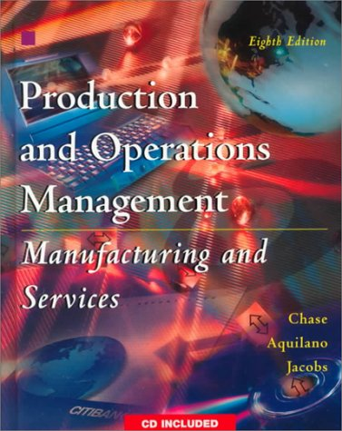 9780075612780: Production and Operations Management: Pack: Manufacturing and Services (The Irwin/McGraw Hill series)