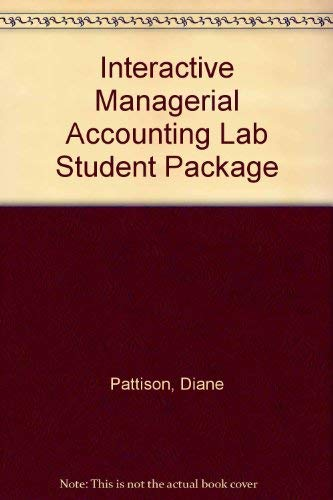 9780075613206: Interactive Managerial Accounting Lab Student Package