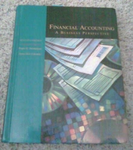 9780075616825: Financial Accounting: A Business Perspective (Irwin/Mcgraw-Hill Series in Principles of Accounting)