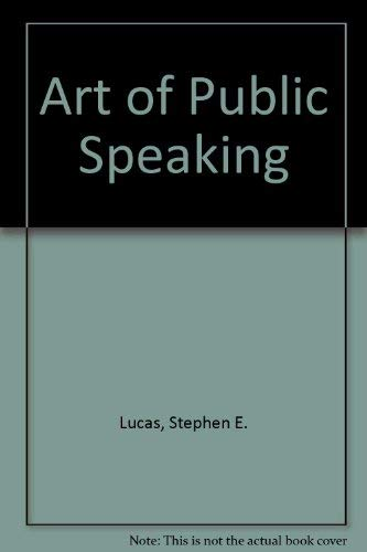 9780075617785: Art of Public Speaking
