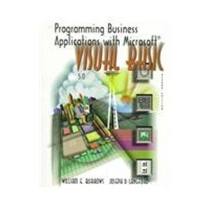 9780075618515: Programming Business Applications With Microsoft Visual Basic: Version 5.0