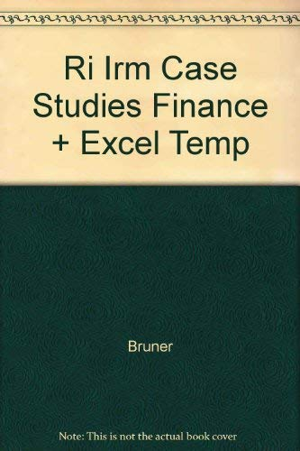 9780075619130: Ri Irm Case Studies Finance + Excel Temp