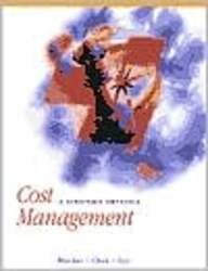 9780075619468: Cost Management : A Strategic Emphasis