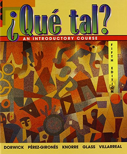 9780075619543: Que Tal: An Introductory Course