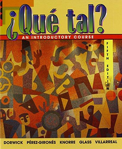 9780075619543: +Qut Tal? Student Edition + Listening Comprehension Audio Cassette