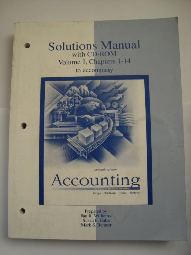 9780075619611: Ri Sm + CD V1 Accounting: Pack