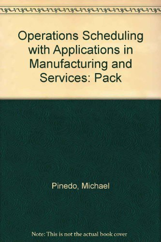 9780075619635: Operations Scheduling with Applications in Manufacturing and Services with 3.5 Disk Package