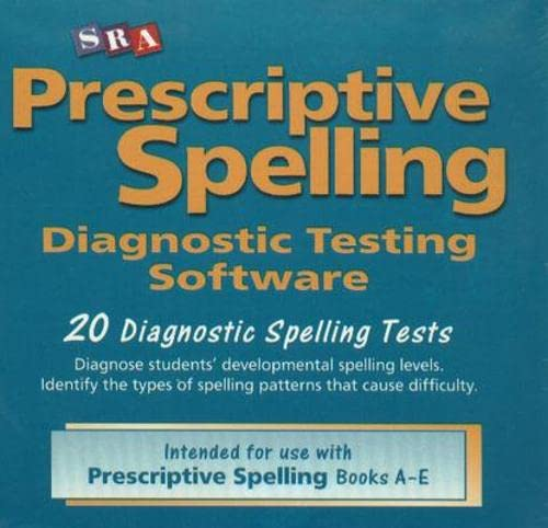 9780075689768: Prescriptive Spelling - CD-ROM Testing Software