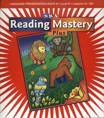 9780075689874: Reading Mastery K 2001 Plus Edition: Language Presentation Book B