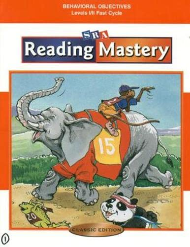 9780075692911: Reading Mastery: Behavioral Objectives, Levels 1-2: Fast Cycle, Classic Edition