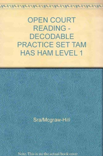 9780075694120: Tam Has Ham: Decodable Practice Set Level 1 (Open Court Reading)