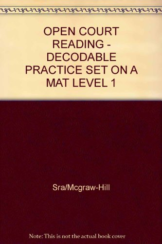 9780075694137: On a Mat: Decodable Practice Set Level 1 (Open Court Reading)
